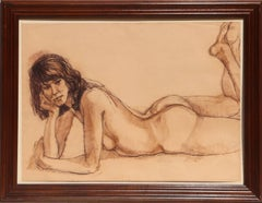 Signed Nude Pastel Drawing by Gerald Fairclough