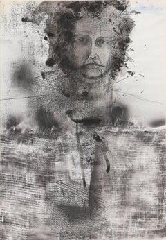 Self Portrait, 1970's Ink Drawing, Josep Grau-Garriga