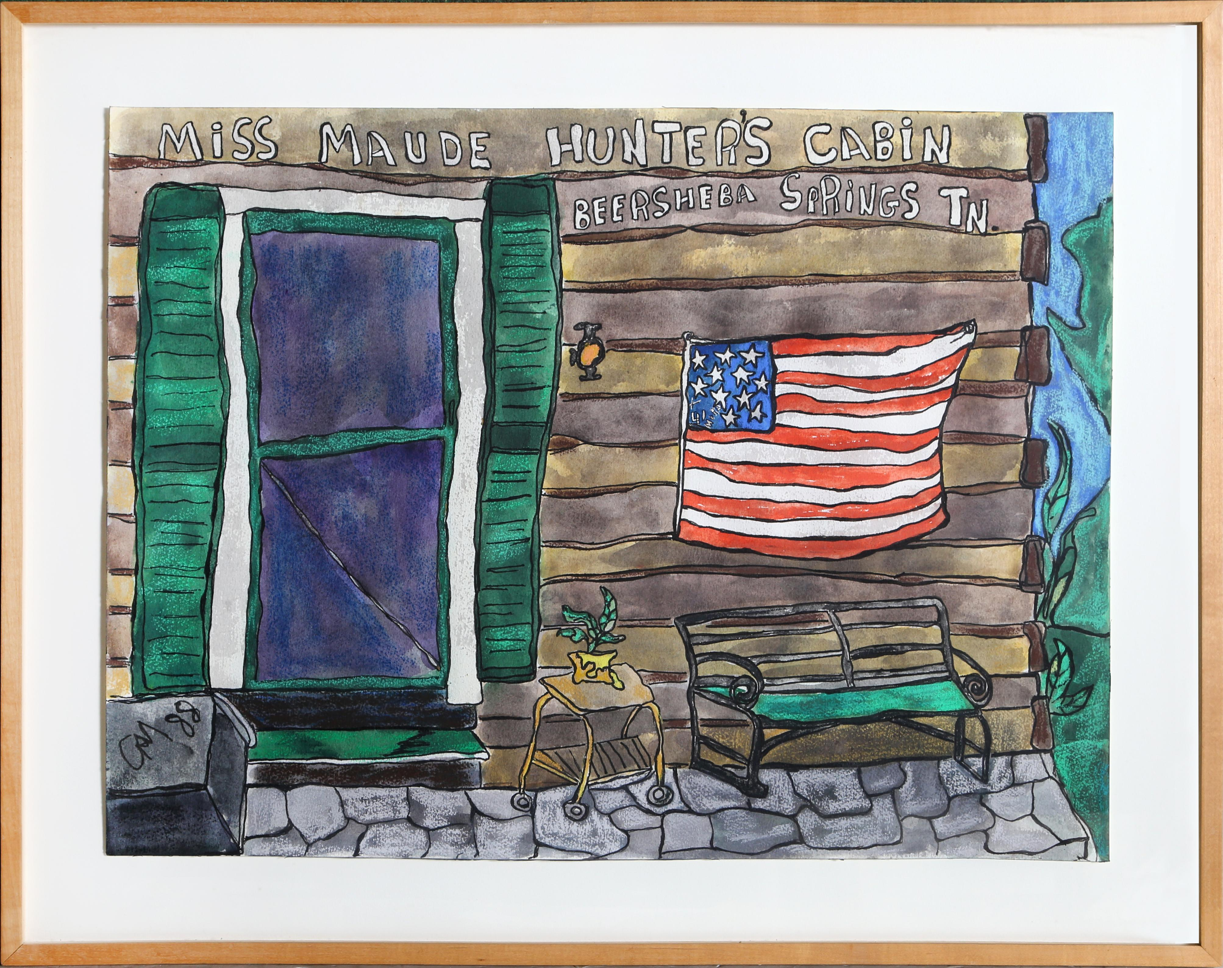 """Miss Maude Hunters Cabin, Beersheen Springs, TN"", 1988, Gay Kabbash"
