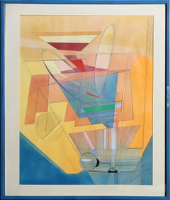 """""""Thrust"""", Geometric Abstract painting by Ray Dougherty"""