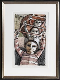 Three Boys, Gouache Painting by Lucio Ranucci