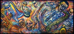 Wind Blowing, Large Jazz Painting by Alejandro Romero