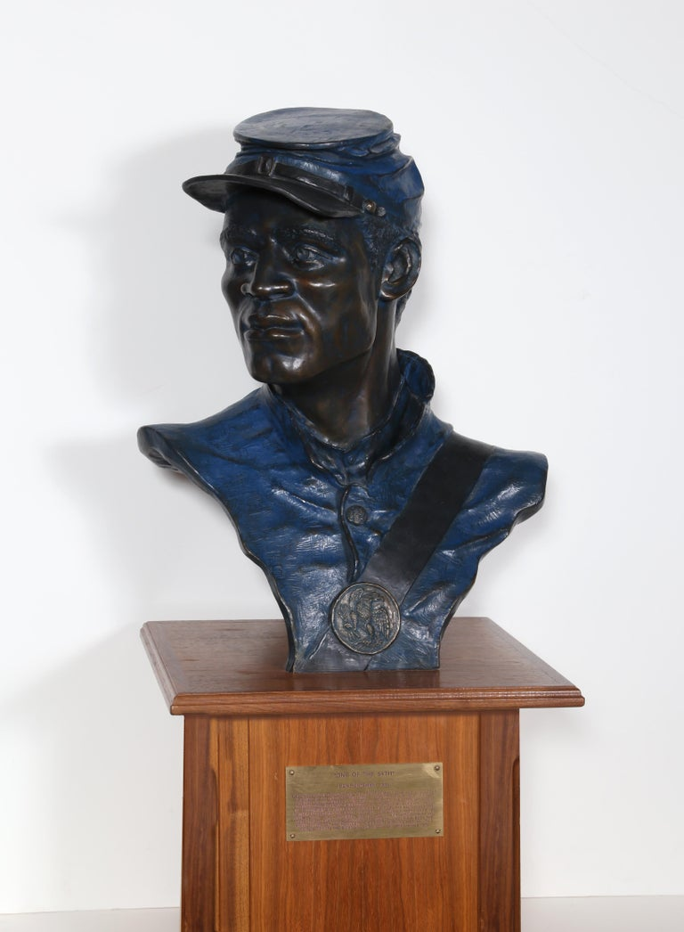 Artist: Don Huntsman, American (1934 -  ) Title: One of the 54th Year: 1992 Medium: Bronze with Plaque, Wood Base, signature, date, and numbering inscribed Edition: 12/40 Size: 22 x 16 x 8 in. (55.88 x 40.64 x 20.32 cm) Base Size: 46 x 14 x 12