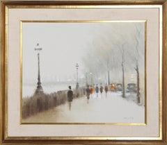 Albert Embankment 1880, Painting by Anthony Klitz