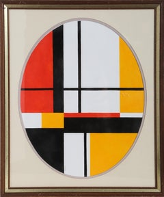 De Stijl Painting after Mondrian by Seymour Zayon