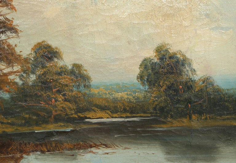 Landscape with Cottage, Oil Painting by Edward Heaton  For Sale 1