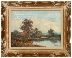 Landscape with Cottage, Oil Painting by Edward Heaton