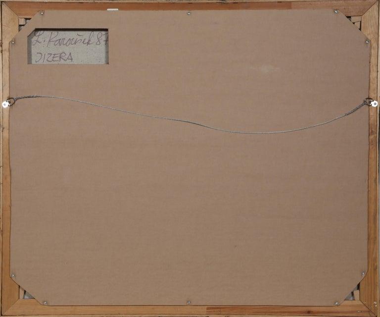 Jizera, Large Abstract Painting by Ladislav Karousek For Sale 2