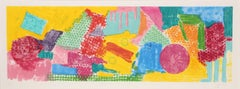 Ginza 3, Large Colorful Abstract Etching