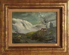Neige en Cantal,  Landscape Oil Painting by Marcel Bouyeron