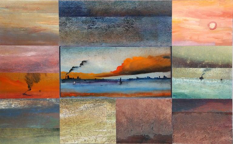 Vladimir German Landscape Painting - Far Rockaway Seascape