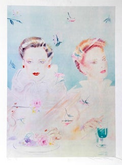 Tea for Two, Lithograph by Pater Sato