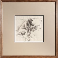 Seated Nude, Charcoal Drawing by Leon Kroll