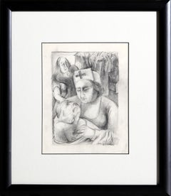 Nurse and Patient, Original Drawing by Ben Shahn