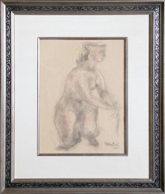 Nude Woman, Drawing by Chaim Gross