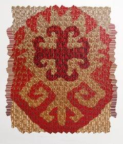 Serghana Wheat, Abstract Screenprint by Edward Hansen
