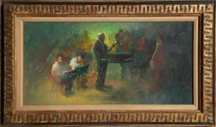 Conductor and Singer, Figurative Oil Painting by William Harnden