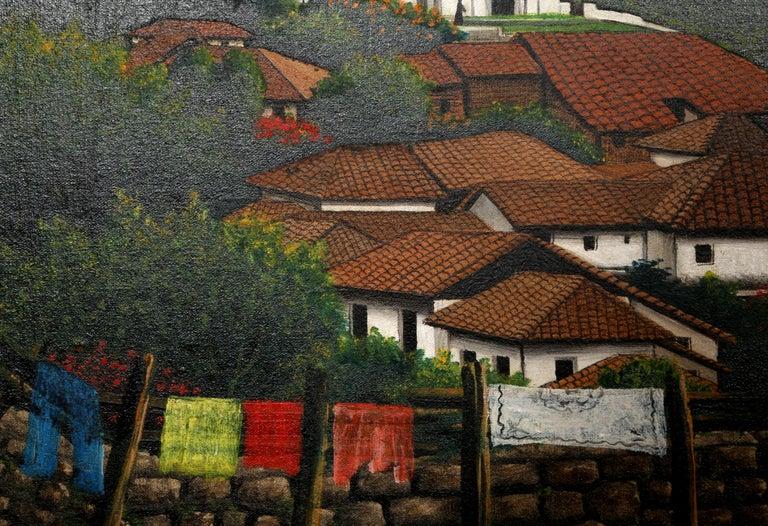San Antonio de Oriente, Honduras, Painting by Jose Antonio Velasquez 1957 For Sale 1