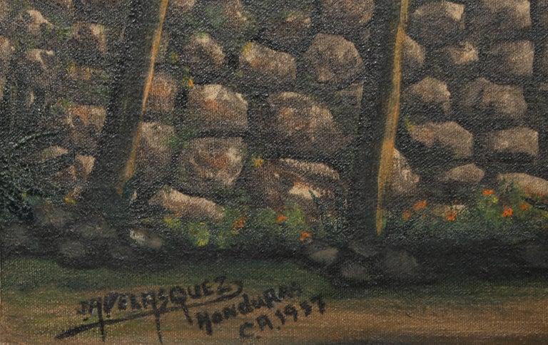 San Antonio de Oriente, Honduras, Painting by Jose Antonio Velasquez 1957 For Sale 3