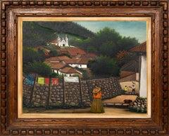 San Antonio de Oriente, Honduras, Painting by Jose Antonio Velasquez 1957