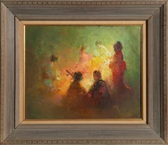 Women Gathered, Oil Painting by William Harnden