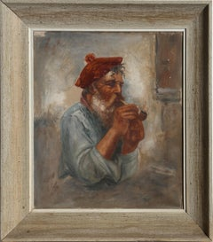 Painter with a Pipe, Oil on Canvas