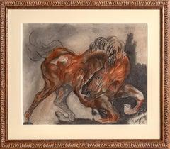 Wild Horse, Pastel Drawing