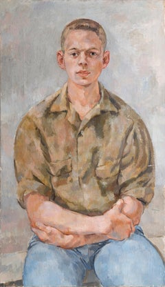 Portrait of a Young Man, Oil Painting
