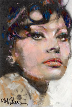 Sophia Loren, Oil and Acrylic Portrait by Sid Maurer