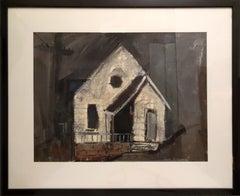 House, Gouache on paper by Joseph DeMartini c1950