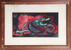 St. George and the Dragon, Abstract Expressionist Painting by Alfred van Loen