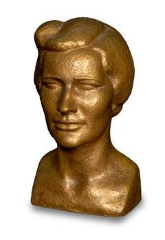 Art Deco Bronze Bust of Helen Coolidge Wooding 1939