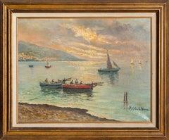 At Sea, Impressionist Seascape Oil Painting