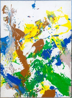 Large Colorful Abstract Painting by Olympian Al Oerter