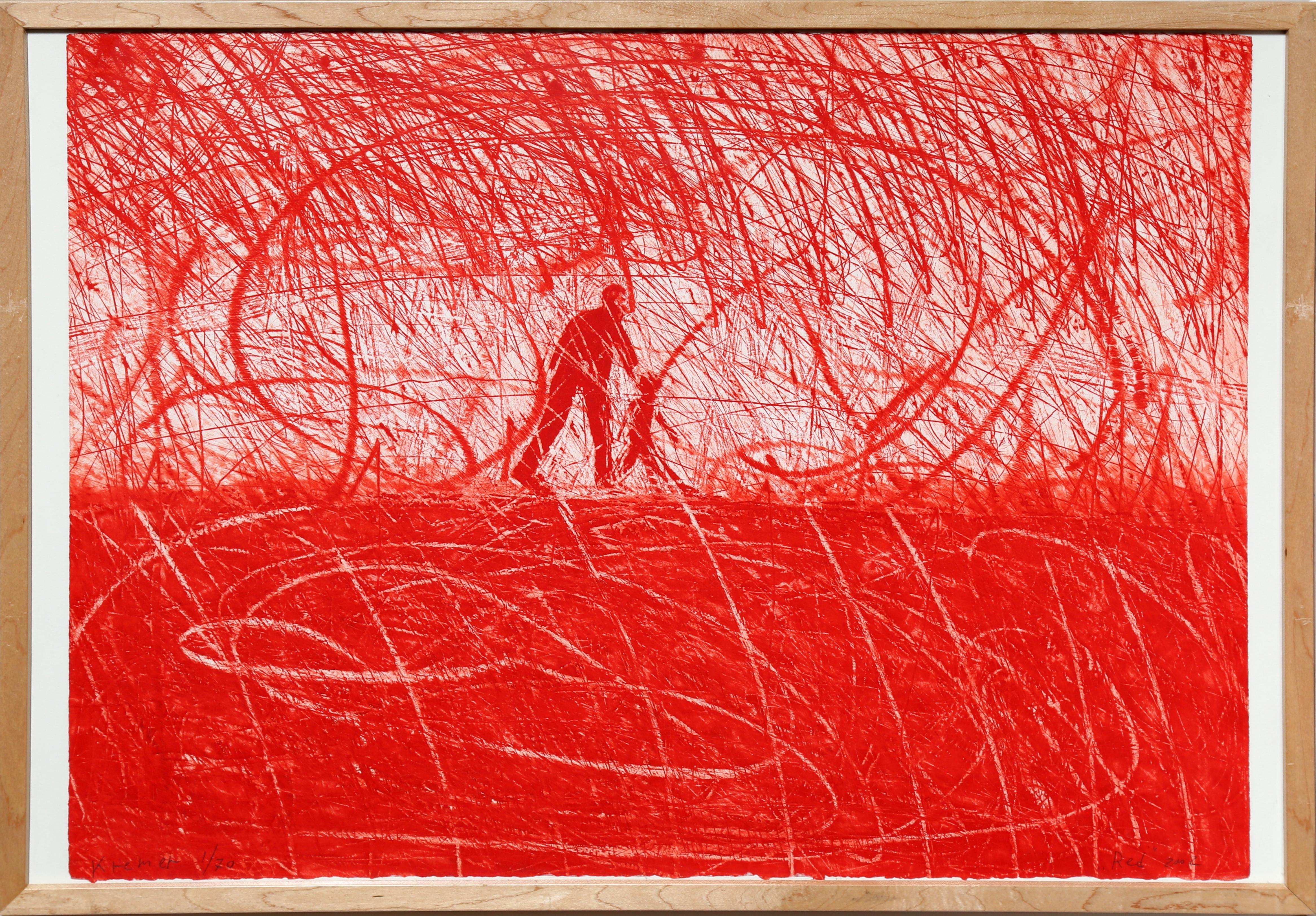 Red Man in Landscape