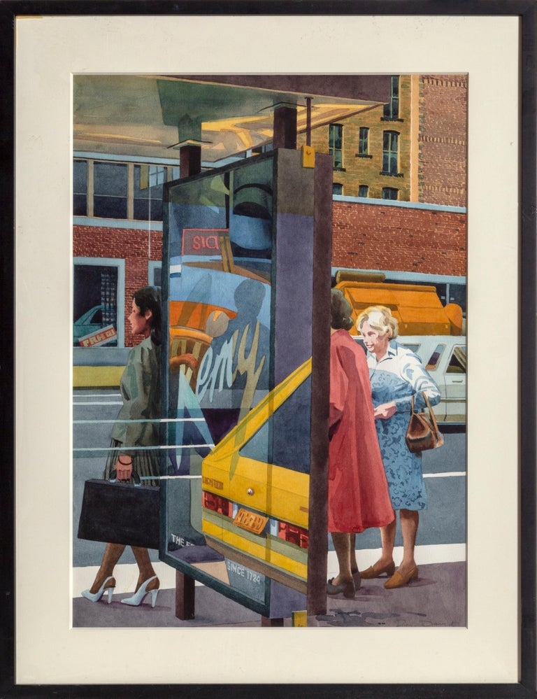 Don David Landscape Art - Bus Stop, New York City