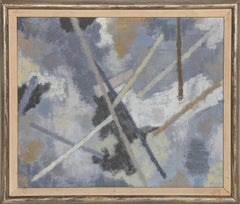 Espace en Gris, Abstract Expressionist Painting by Raymond Abner 1956