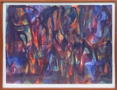 Abstract Expressionist Encaustic Painting