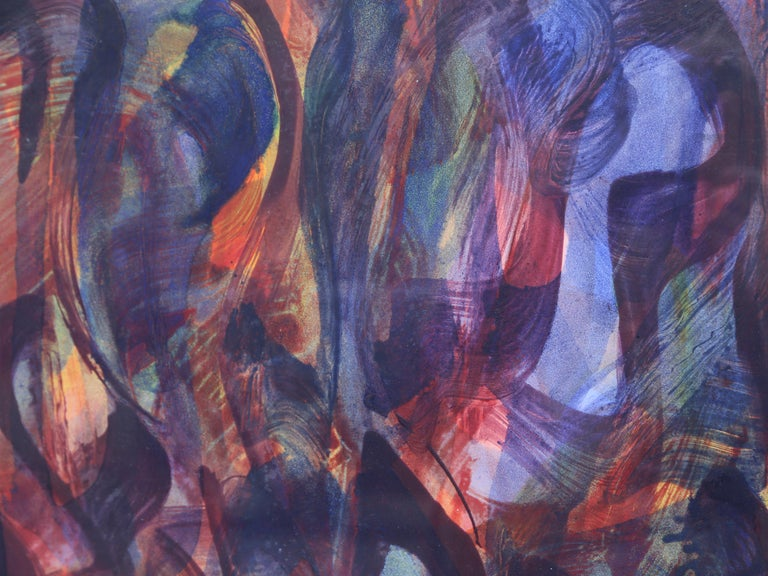 Abstract Expressionist Encaustic Painting For Sale 2