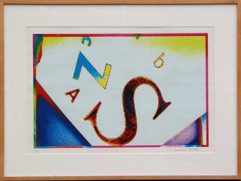 Beth Story Abstract Print - Alphabet