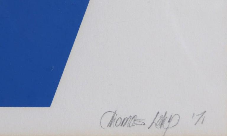 Chromatic Transit, Abstract Screenprint - Print by Thomas Lahy