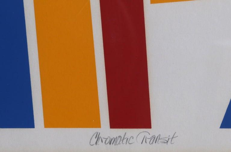 Chromatic Transit, Abstract Screenprint - Abstract Geometric Print by Thomas Lahy