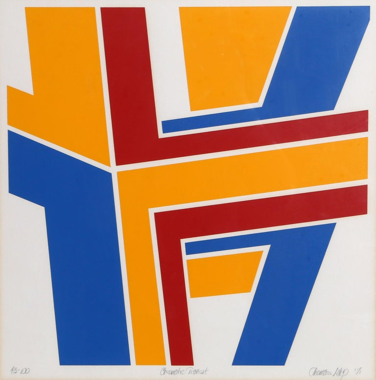 Thomas Lahy Abstract Print - Chromatic Transit, Abstract Screenprint