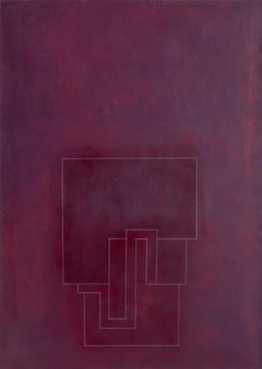 Signatures II, Minimalist Mixed Media Painting by Robyn Denny