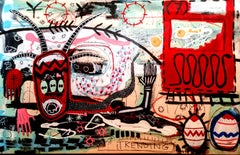 Spittle, Large Graffiti painting by Marcus Kitchen