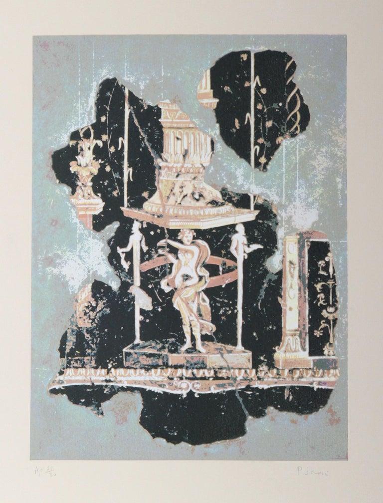 Peter Saari Abstract Print - Hellenistic Figure