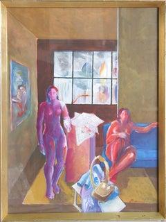 2 Nue Numa Sela, Painting by Benjamin Silva 1967