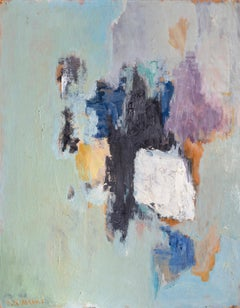 Cluster, Abstract Expressionist Painting by Ruth Abrams 1962