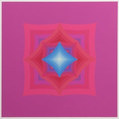 Mao18, Colorful OP Art Silkscreen by Ryo Tokita
