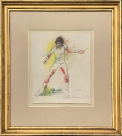 """Jimbo"", Jimmy Connors, Tennis drawing by LeRoy Neiman 1983"